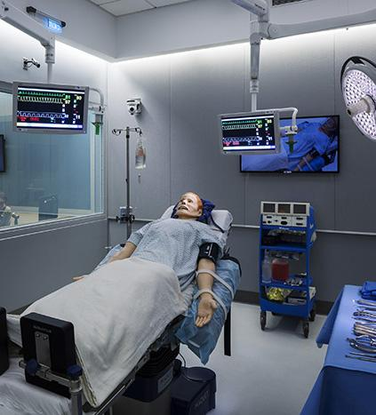 Mannequin for practice in the SAIL Operating Room.